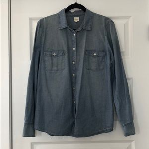 J. Crew Chambray Button-Up